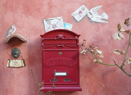 pigeon courier service to letterbox